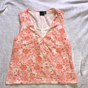 Pink and White Sonoma Floral Tank
